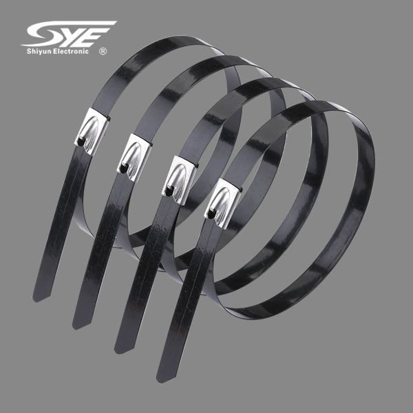 Epoxy Coated stainless stell cable ties-Ball lock type
