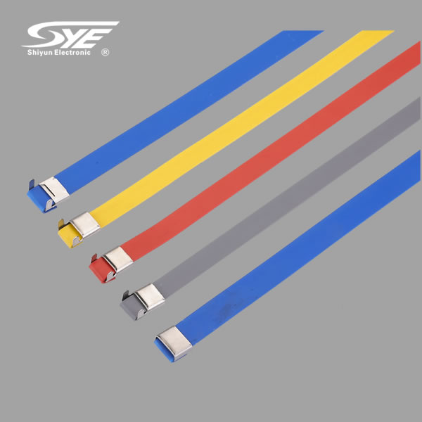 PVC covered stainless steel cable ties-O lock type